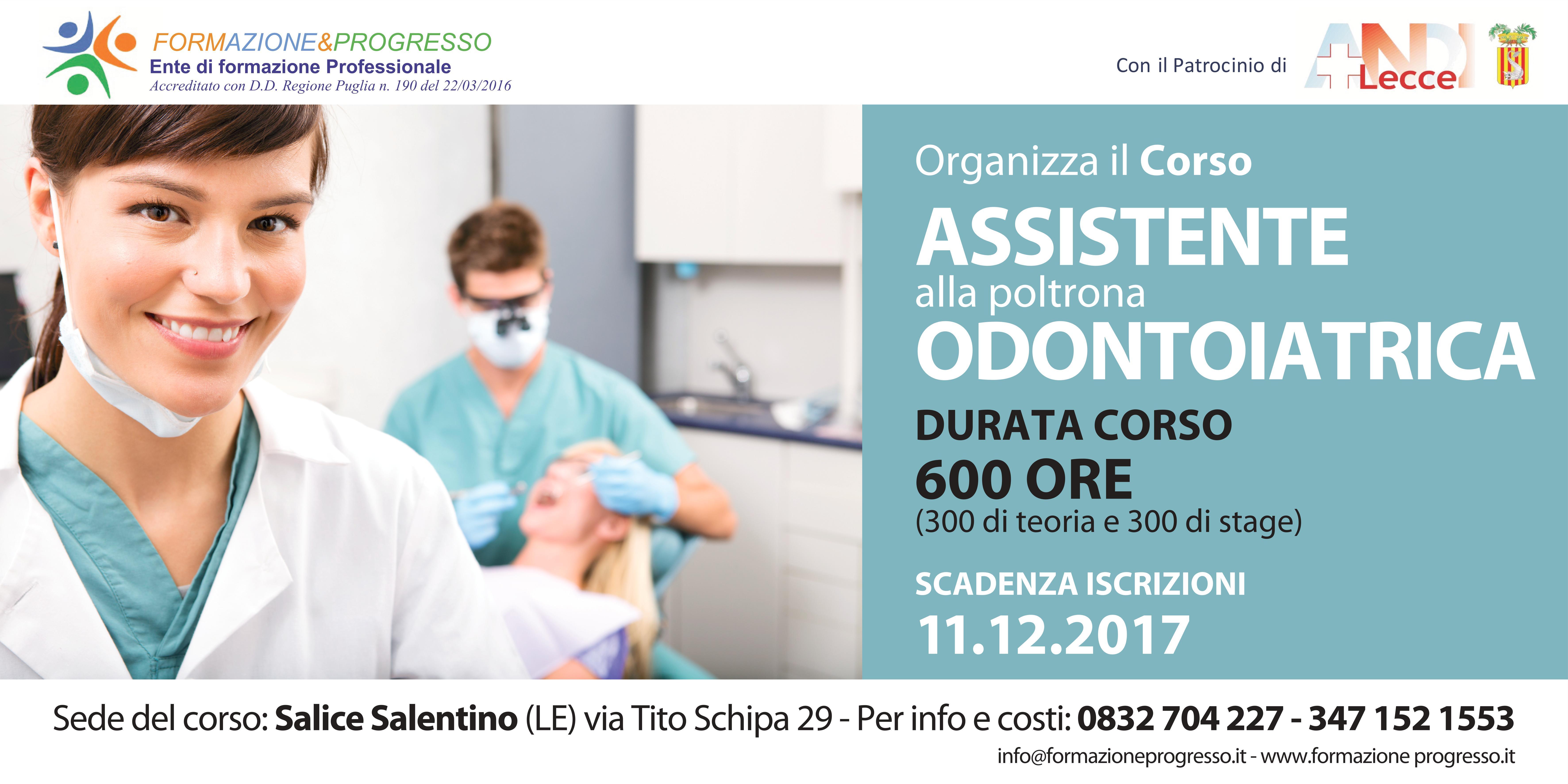 Assistente di studio odontoiatrico formazione progresso